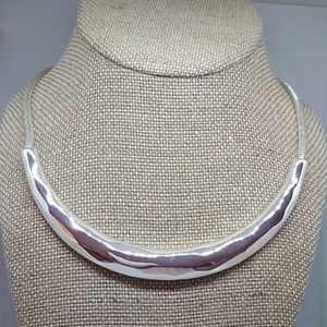 LA lune Sculpted Collar Necklace